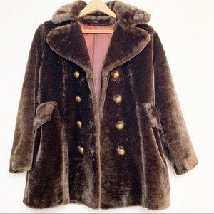 Vintage Chocolate Brown Teddy Bear Coat